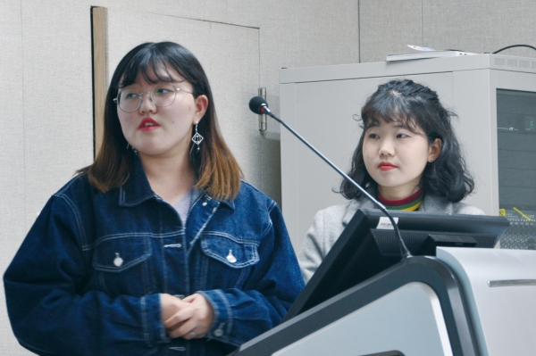 Park Ha-yun (CHEM 17, left) and Kim Chae-rim (MSE 17)